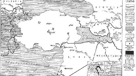 Sevr Antlaşması Sınırlar