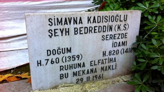 Şeyh Bedreddin Mezarı