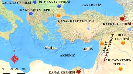 Osmanlı Cepheleri Haritası