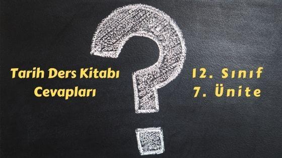 12. Sınıf İnkılap Tarihi Ders Kitabı Cevapları