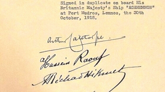 Mondros Ateşkes Antlaşması'nın İmzalanması