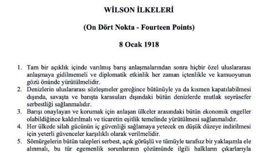 Wilson Prensipleri Maddeleri